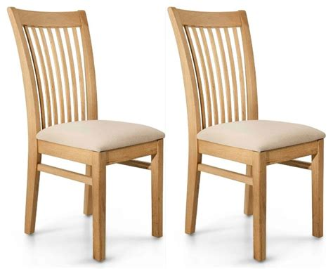 willis gambier spirit oak dining chair pair
