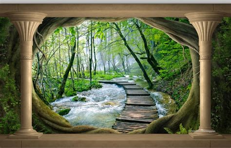3d murals aliexpress buy 3d mural wallpaper landscape