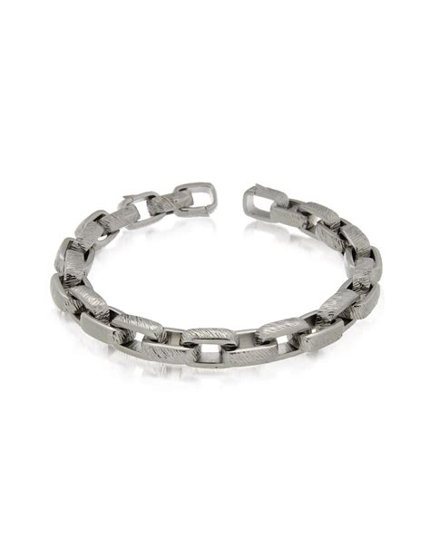 zoppini zo chain stainless steel link bracelet in metallic