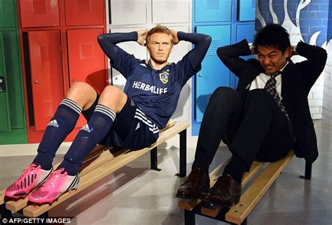 And Now The Waxy Beckhams by Lionel Messi Tokyo Madame Tussauds With David Beckham