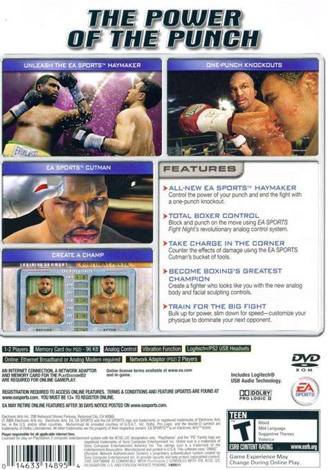 Fight Night Round 2 Cheats Xbox | fight night round 2 box shot for playstation 2 gamefaqs