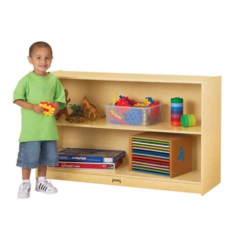Jonti Craft Low Mobile Straight Shelf School Bookshelves