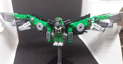 downtheblocks xinh 676 vulture minifig with moc wings from spider homecoming review