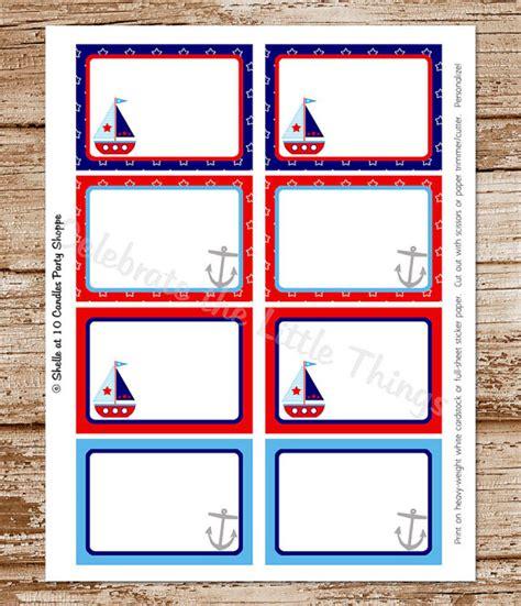 free printable nautical name tags items similar to sailboat blank labels tags sail boat