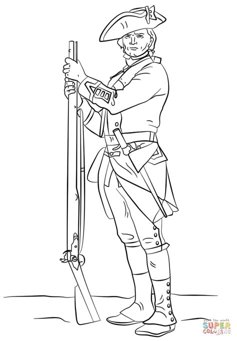 The American Revolution Coloring Page Coloring Home Revolutionary War Coloring Pages