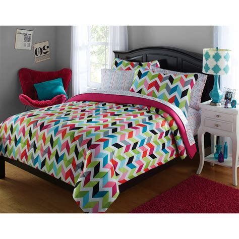 your zone bedding your zone bright chevron bed in a bag bedding set