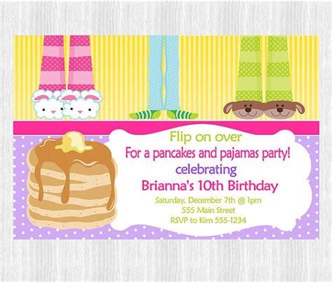 Pancakes And Pajamas Party Invitations Parties Pinterest Pajama Party Pancakes And Pancakes And Pajamas Invitation Template