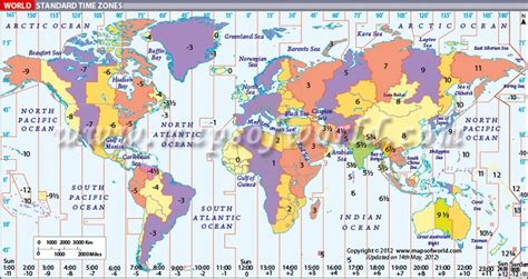 world time zones map world timezone map displays the standard time zones around the world travel tourism