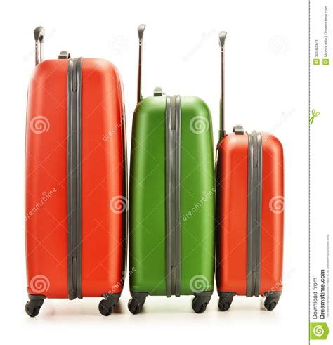 lost bags at united airlines luggage counter editorial luggage consisting of three suitcases on white stock