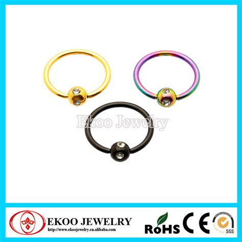 how do you open a captive bead ring titanium anodized captive ring with multi gem