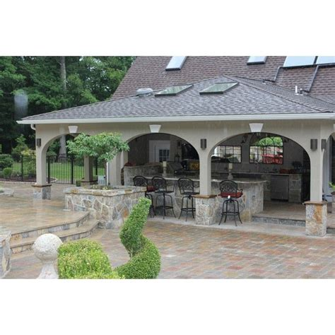 covered outdoor kitchen designs covered outdoor kitchen 17 best ideas about covered outdoor kitchens on pinterest