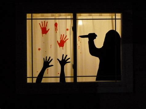 Modern Home Interior Decoration halloween window silhouettes diy ideas and useful decor tips
