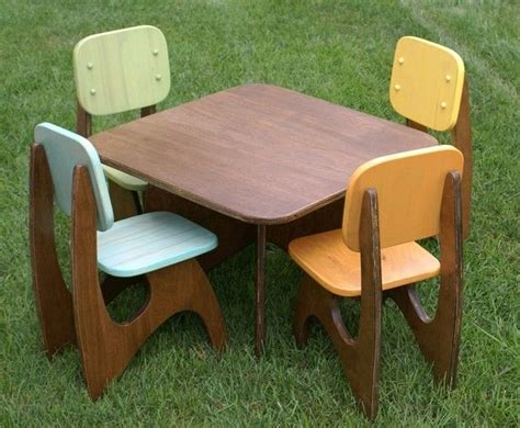 Childrens Wood Table And Chairs - best 25 kid table ideas on picnic