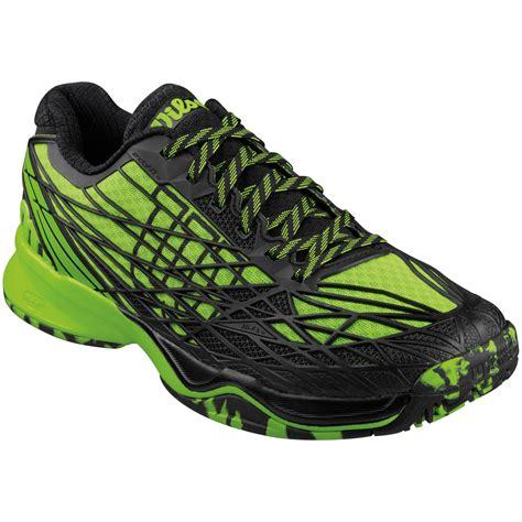 wilson mens kaos tennis shoes green black tennisnuts