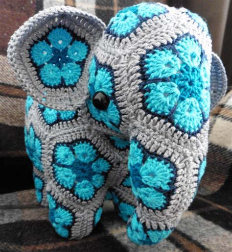 crochet pattern african flower elephant african flowers credits for the pattern to anne