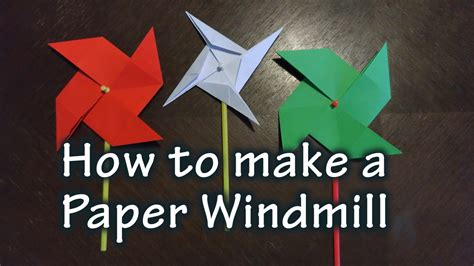 Make A Paper Windmill - how to make a paper windmill stem explorers