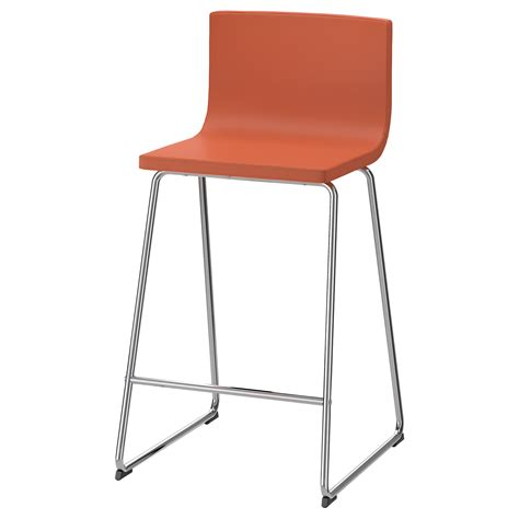 taburetes de bar ikea bernhard bar stool with backrest chrome plated mjuk orange