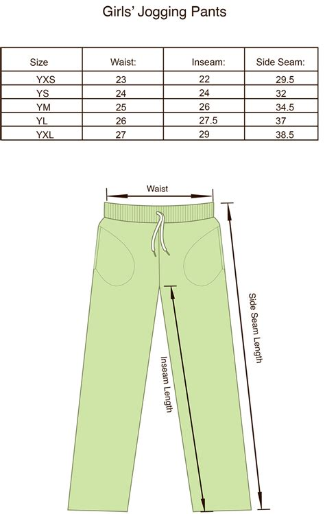Joger Size size charts for products projoy sportswears and apparel