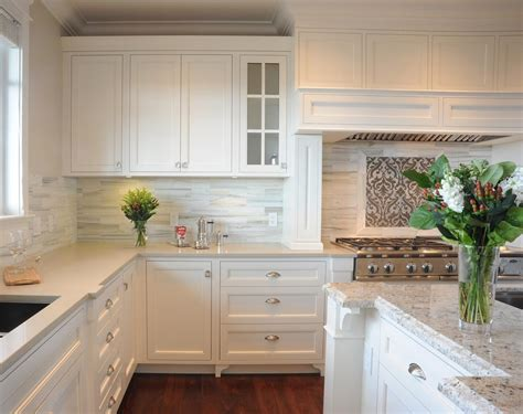 backsplashes for white kitchens creating the kitchen backsplash with mosaic tiles betterdecoratingbible