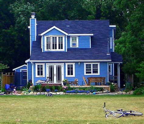 home blue blue house blue houde pinterest