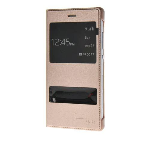 Garansi Huawei P8 Lite Flip Flip Cover side flip cover for huawei ascend p8 lite premium pu leather with window gold jpg