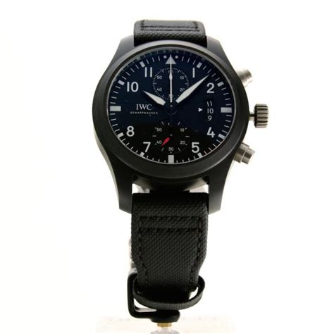 Iwc Top Gun Chrono On Semua Black List iwc top gun chrono black ceramic iw388007 luca