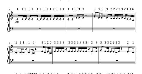 lirik lagu shape of you not angka shape of you ed sheeran pianika dan piano