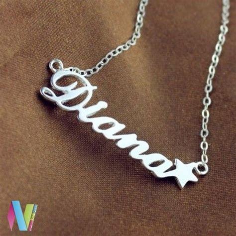 Kalung Nama Silver Pasir Ukir Nama 58 best liontin nama images on name necklace