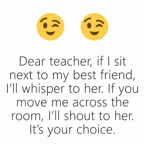 dear teacher   sit     friend ill whisper