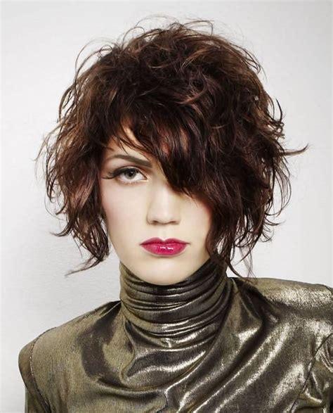 ways to style asymmetrical hair asymmetrical short curly hair styles 2018 2019 short bob