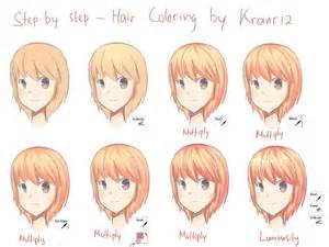 how to color anime hair how to color skin with sai step by step coloring anime