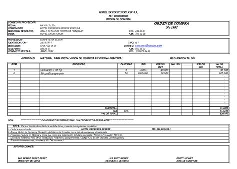 ordenes de requisicion plantillas de requisicion orden de compra cotizacion