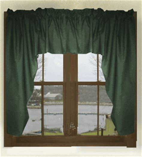 green swag curtains solid dark forest green swag valance