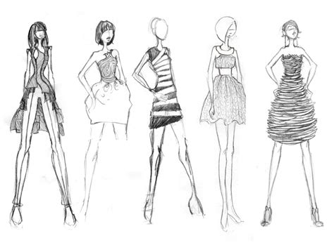 Sketches Clothes by Runway Illustration Design Flats By Alessandra At