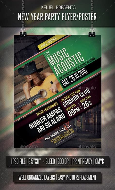 Live Music Acoustic Flyer Templates Flyer Template Design And Flyers Live Poster Template