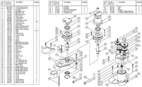 lewmar windlass parts diagram sprint 1500