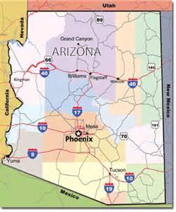 arizona travel map arizona hotels travel pal international