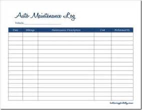 service record template believing boldly auto maintenance log free printable