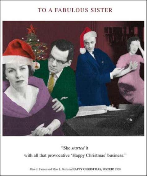 fabulous sister funny christmas greeting card cards
