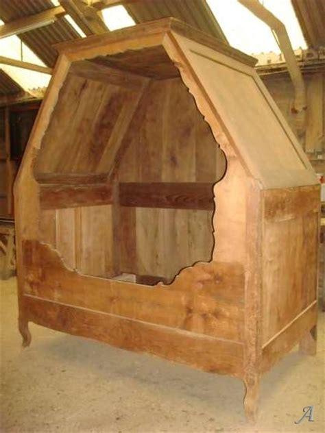lit enfant ancien lit baldaquin ancien en merisier artisans du patrimoine