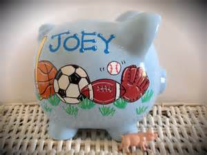 personalized painted piggy bank with from thepaintedpiggy on