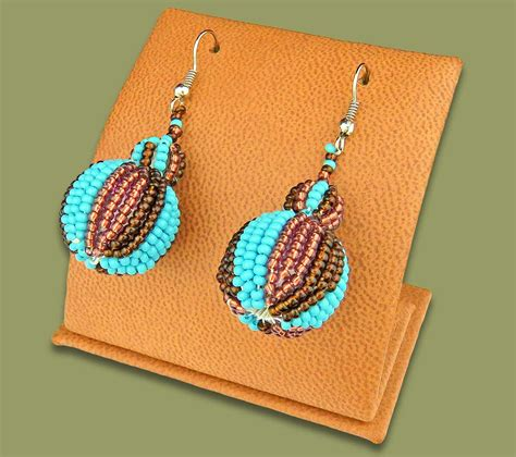 Bobble Earrings earrings bobble bobble earrings aqua copper chocolate