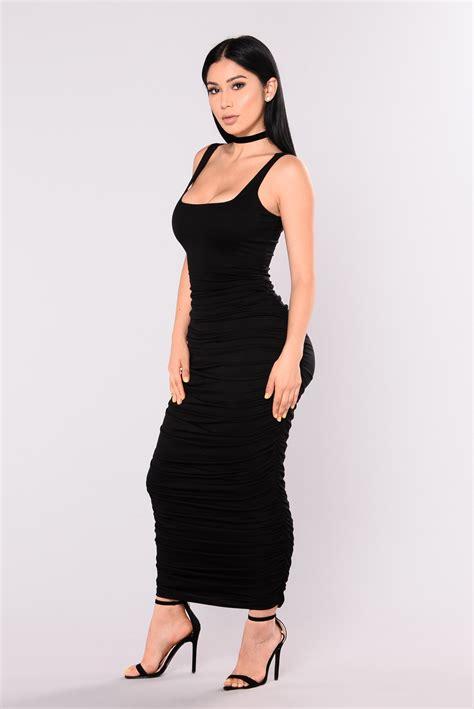 Maritza Dress maritza ruched dress black