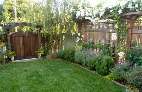 backyard landscaping ideas along fence 25 beautiful fence designs to improve and accentuate yard landscaping ideas