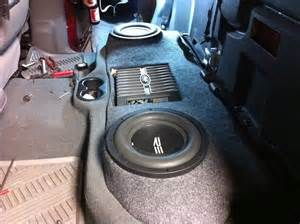 dodge ram custom fiberglass subwoofer enclosure