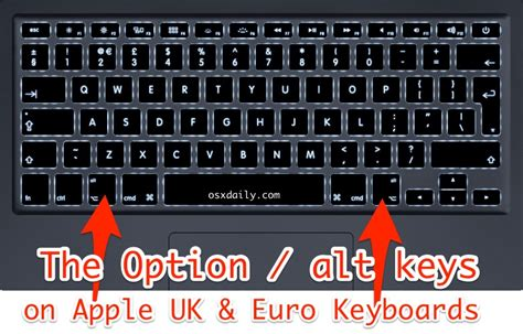 keyboard layout options where is the option key on mac keyboards