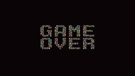 wallpaper gamer 1366x768 1366x768 game over poster desktop pc and mac wallpaper