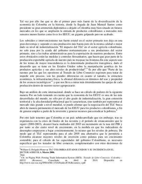 tlc colombia estados unidos y su incidencia en el sector tlc colombia estados unidos la b 250 squeda real de un