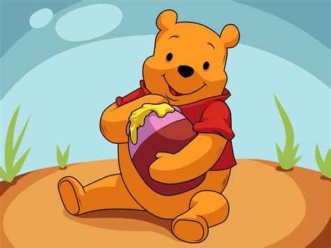 winnie pooh eating honey coloring pages viewing gallery