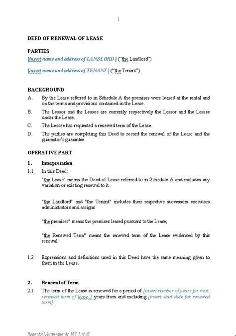 section 42 notice lease extension template lease renewal form extend lease agreement lease renewal